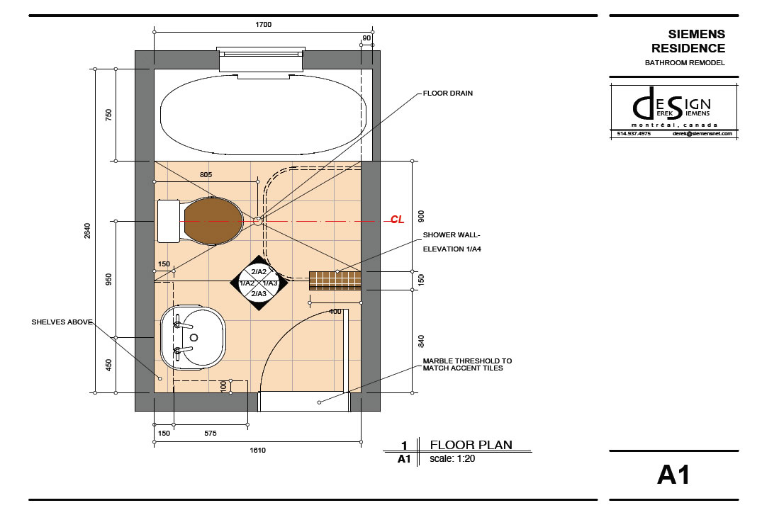 Highdesign gallery derek siemens krebs design Bathroom floor plans